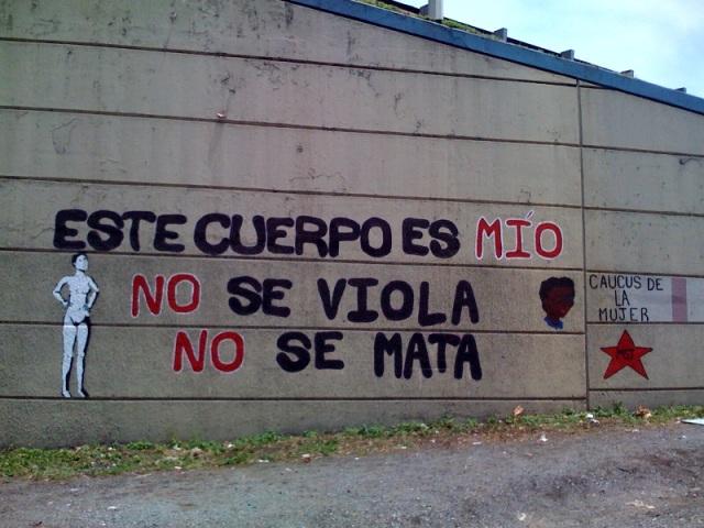 Realizan mural denunciando la violencia de género en el país | Poder, Cuerpo  y Género